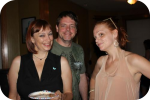 Heidi Kohz, Chris Coats, and Melissa Pierce celebrate RentSocial